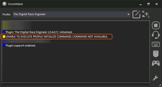 Unable To Execute Profile Initialize Command